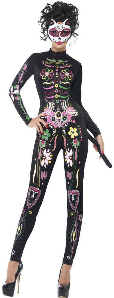 Sugar Skull Katzenkostüm NEU - Damen Karneval Fasching Verkleidung Kostüm | Kleidung & Accessoires, Kostüme & Verkleidungen, Kostüme | eBay!