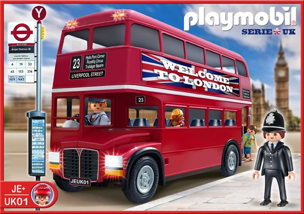Playmobil ref uk01 descripci n bus cl sico londinense categor a londres ht - Boutique lego londres ...