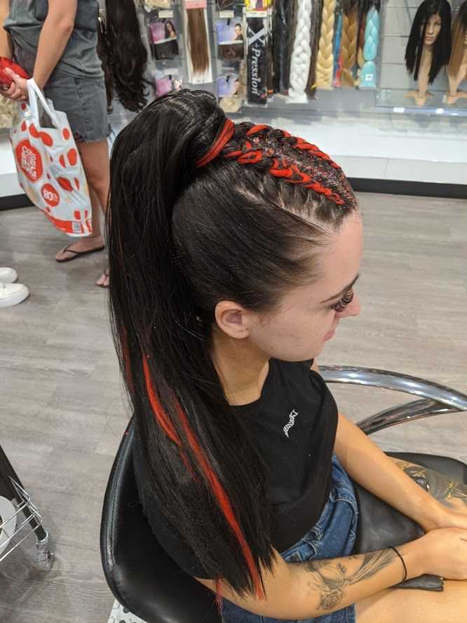 Top Braids Concert Hairstyles High Ponytail Braid Red Hair Ponytail