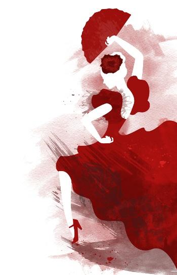 Flamenco - Rojo pasión