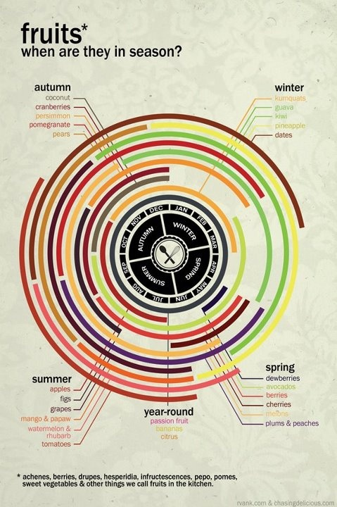 hhh: Ideas, Recipe, Fruit Seasons, Healthy Eating, Fruit Charts, Gardens, Infographic, Seasons Fruit, Healthy Living