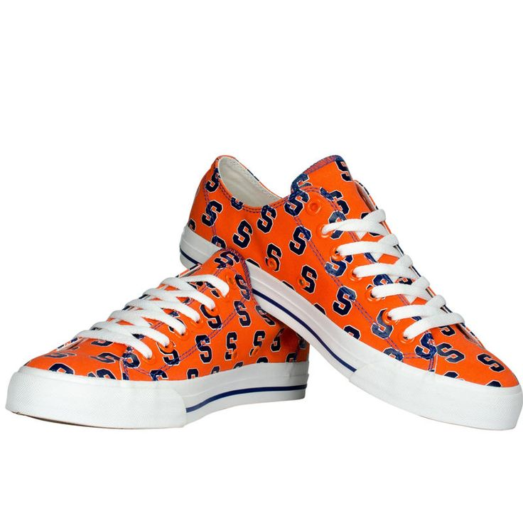 Syracuse Orange Row One Women's Oxford Lace-Up Sneakers