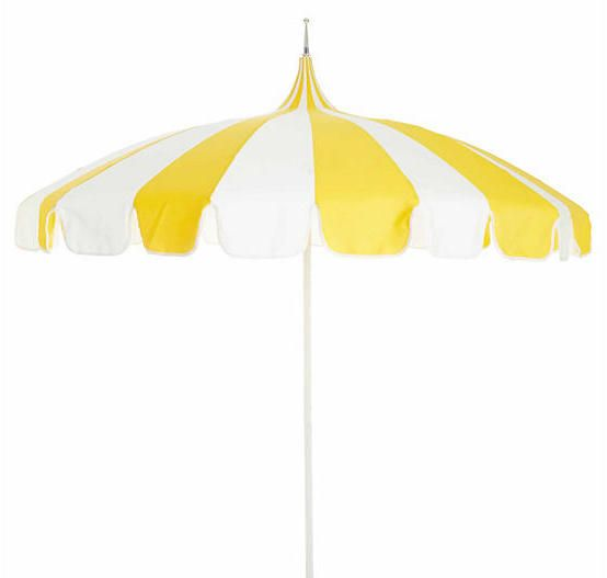 California Umbrella Pagoda Patio Umbrella - Yellow/White