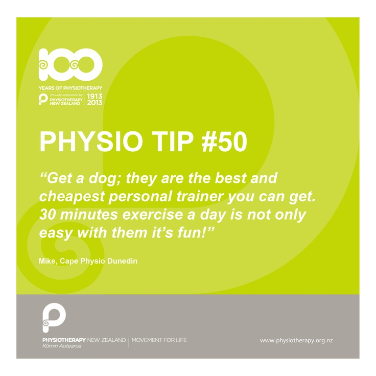 #Physio tips get a dog It is proven that dog owners are fitter and live longer on average than non dog owners