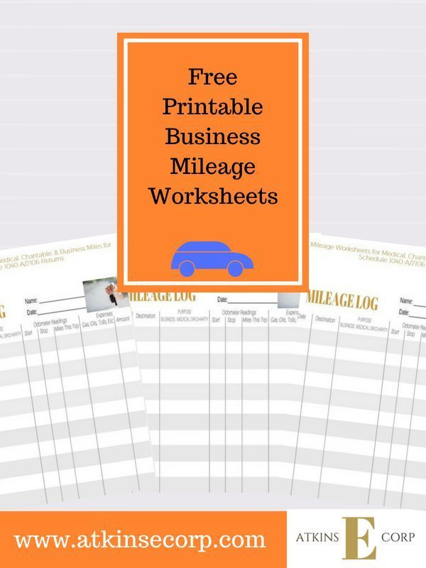 grab our free printable business mileage logs for tax preparation