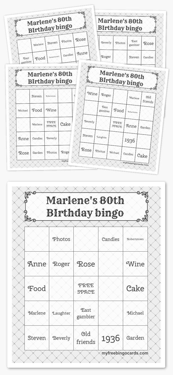 Make your own free bingo cards at myfreebingocards.com