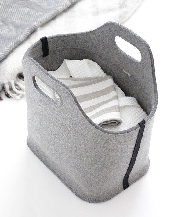 Grey Cottage-Tasche / bag Large Tote fühlte / von aikafeltworks