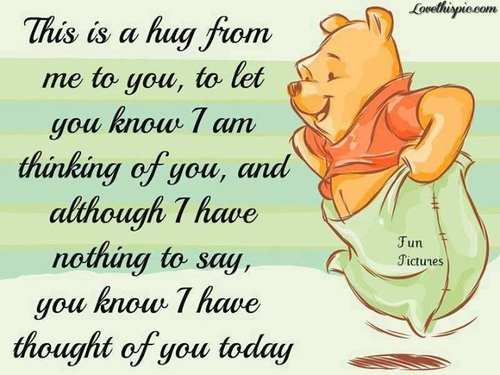 thought of you quotes cute quote disney winnie the pooh