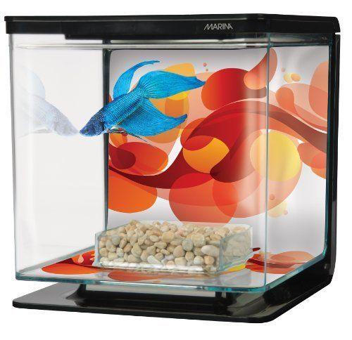 New Tetra Plastic Fish Tanks Small Tank Aquarium Pet Feed Box Starter Kit Betta #Marina
