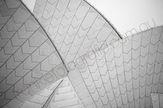 Sydney Opera House, Black and White, Australia  Photograph, Digital Download,Home Decor, Sydney Photo,Coastal, Wall Art Print