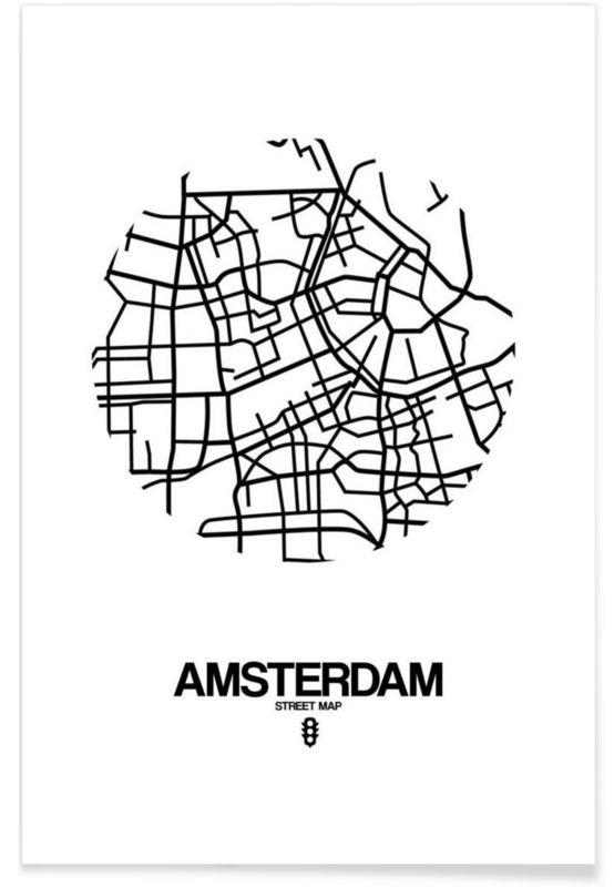 Amsterdam en Affiche premium par Naxart | JUNIQE