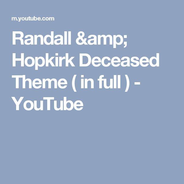 Randall & Hopkirk Deceased Theme ( in full ) - YouTube