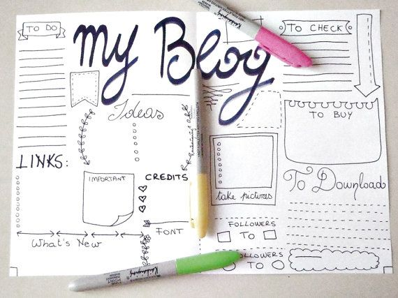 blog journal journaling blogger planner web di LaSoffittaDiSte