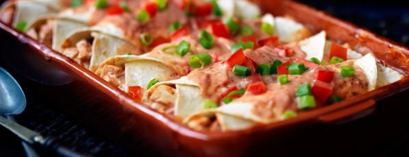 Enchiladas au Poulet et au Fromage