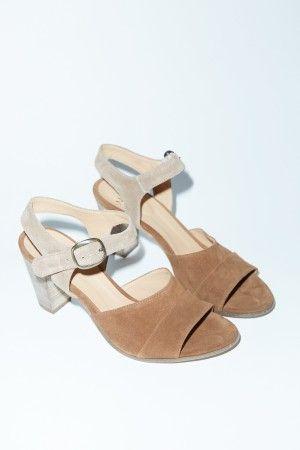 NOW Velour Sandal in Brown