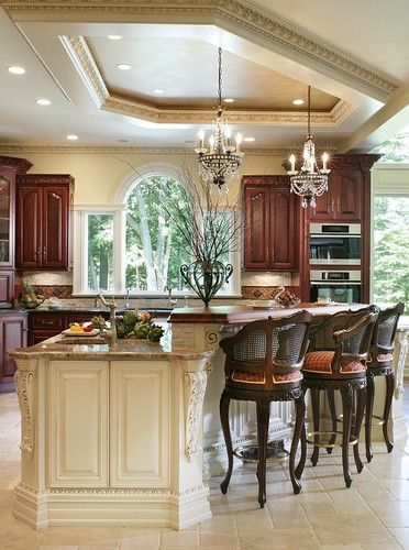 Traditional Kitchen Design, Pictures, Remodel, Decor And Ideas   Page This  Is My Dream Kitchen! (other Than The Barstool Chairs) Paint U0026 Antique The  Island ...