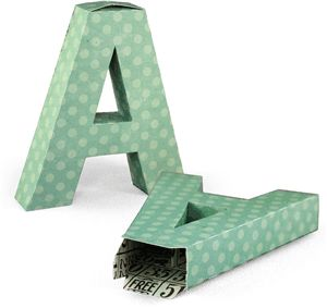 "Letter ""A"" paper box"