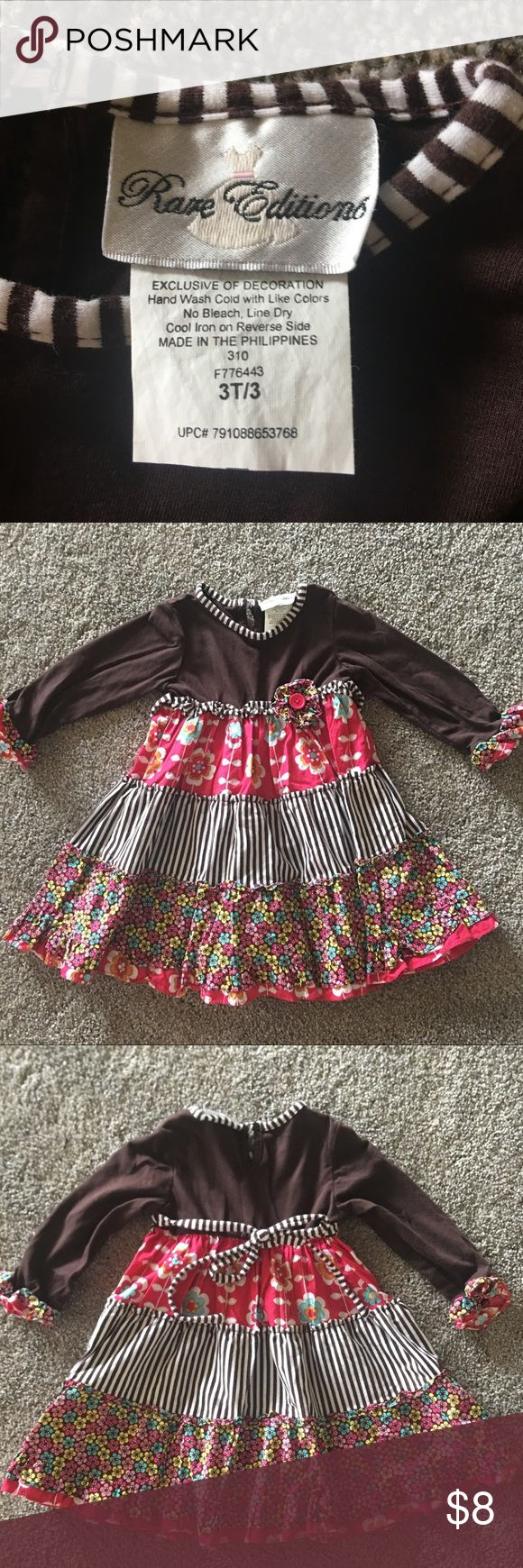 Little girls dress size 3T Adorable rare editions brand dress purchased from Dillard's and worn one time. Smoke free home! Rare Editions Dresses Casual