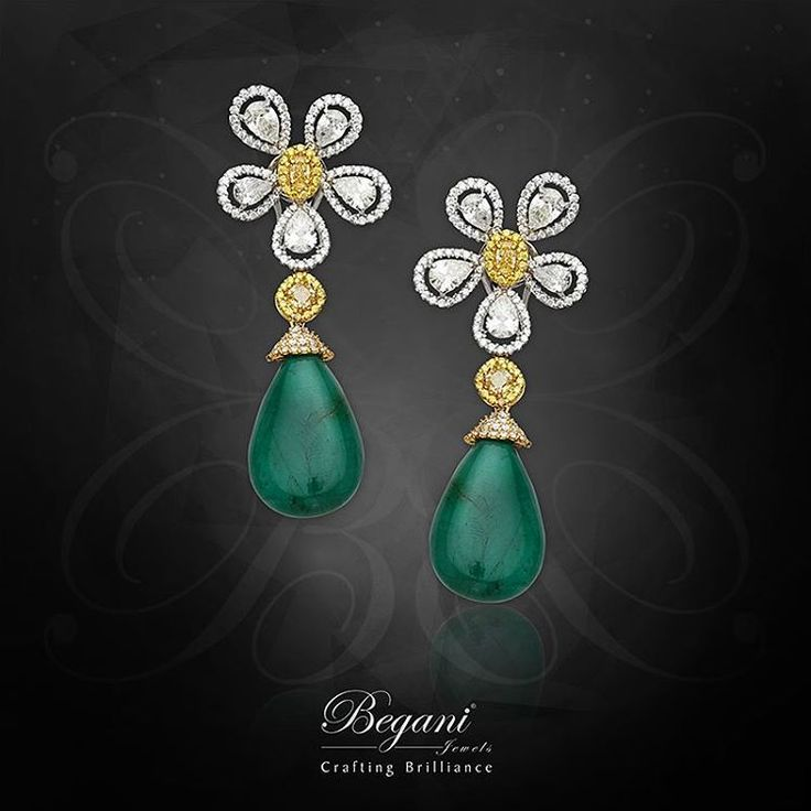 """""""Adorn yourself with our natural yellow diamonds with natural pear shaped cabochon earrings"""" #diamonds #diamondjewelry #jewelry #luxuryjewelry #finejewelry #dubai #yellowdiamond #begani_jewels #elegantjewelry #beautiful"""