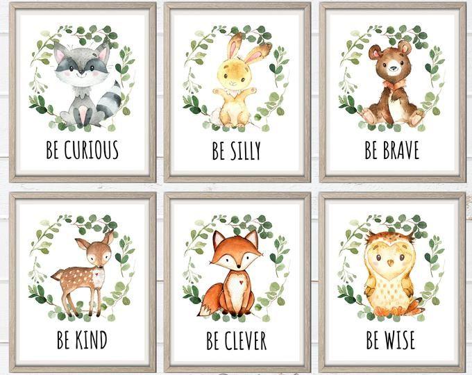 Boy Woodland Animals Nursery Boy Monogram Nursery Prints Etsy Woodland Nursery Prints Woodland Animals Nursery Boy Baby Animal Nursery