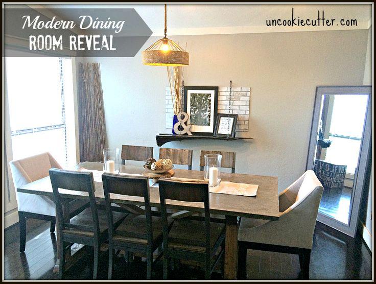 Dining Room Reveal - Modern Industrial DIY - Uncookiecutter.com