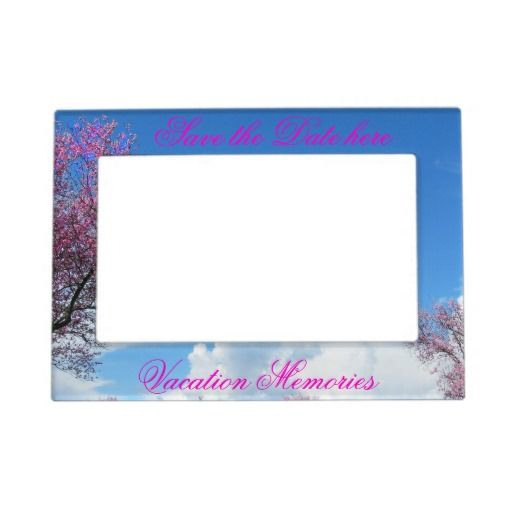 Cherry Blossom Magnetic Frame Save the Date #savethedate