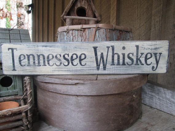 Primitive Wood Sign Tennessee Whiskey Rustic Cabin Country Man Cave Patio Deck Hippie Boho Bar Saloon Handmade to order! Order yours Today!