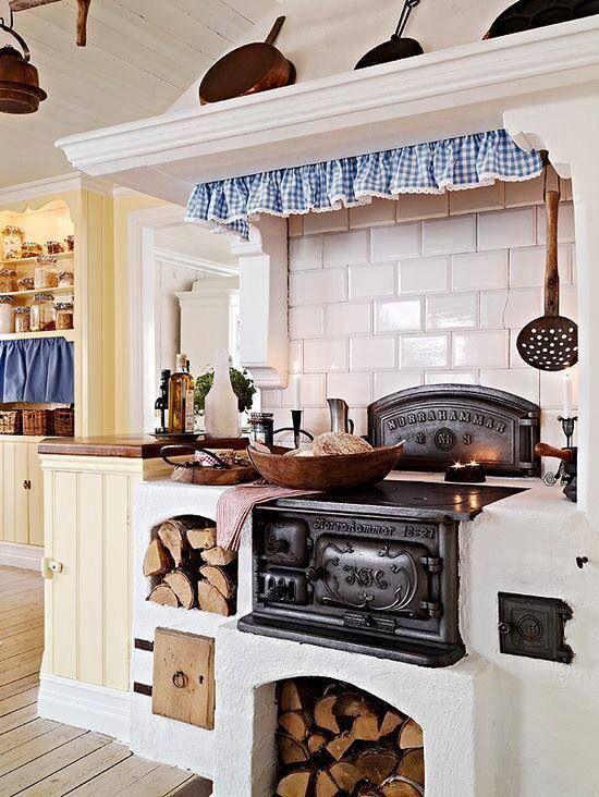 21 besten Mis cocinas Bilder auf Pinterest | Holzofen, Ofen kamin ...