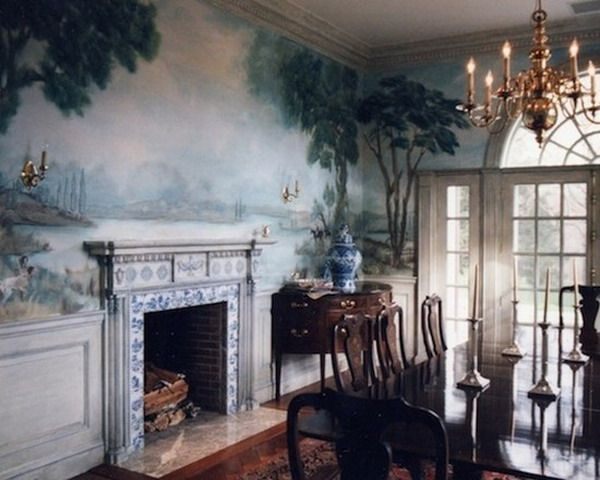 Classic Murals Painting On Dining Room Style Part 70