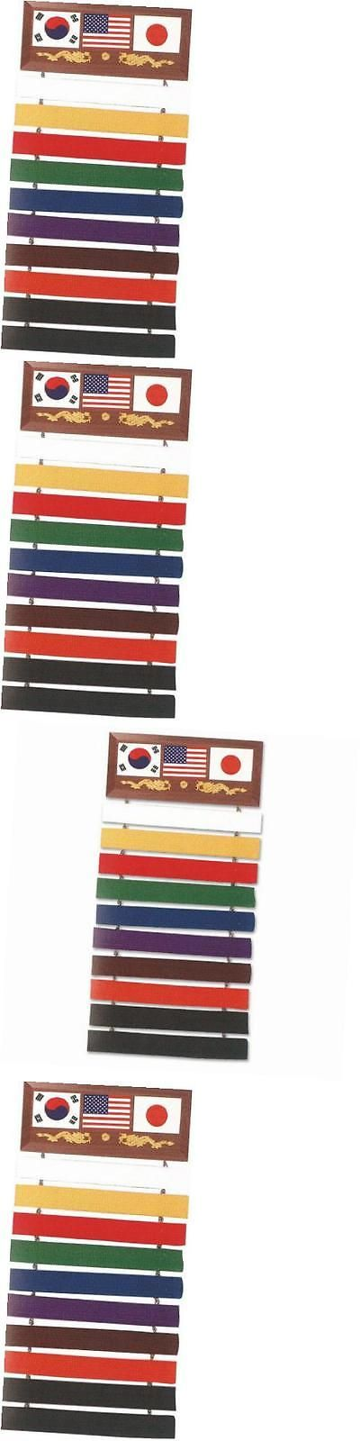 Belt Displays 179768: Se-007 10 Karate Belt Display Wood Rack -> BUY IT NOW ONLY: $31.14 on eBay!