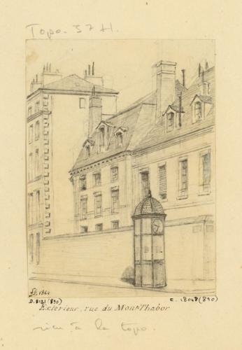 Assomption : extérieur, rue du mont-Thabor. | Paris Musées