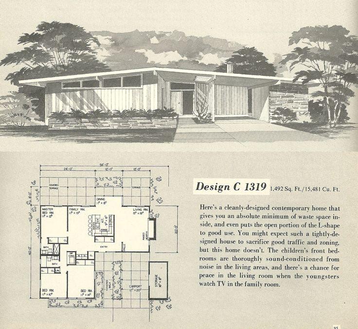 91 best midcentury floor plans images on pinterest modern home