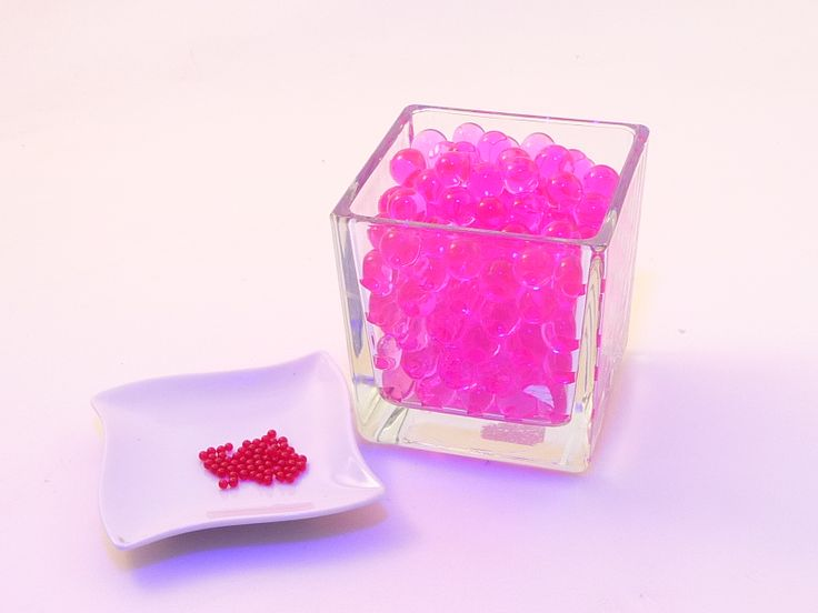 billes de gel roses fuchsias