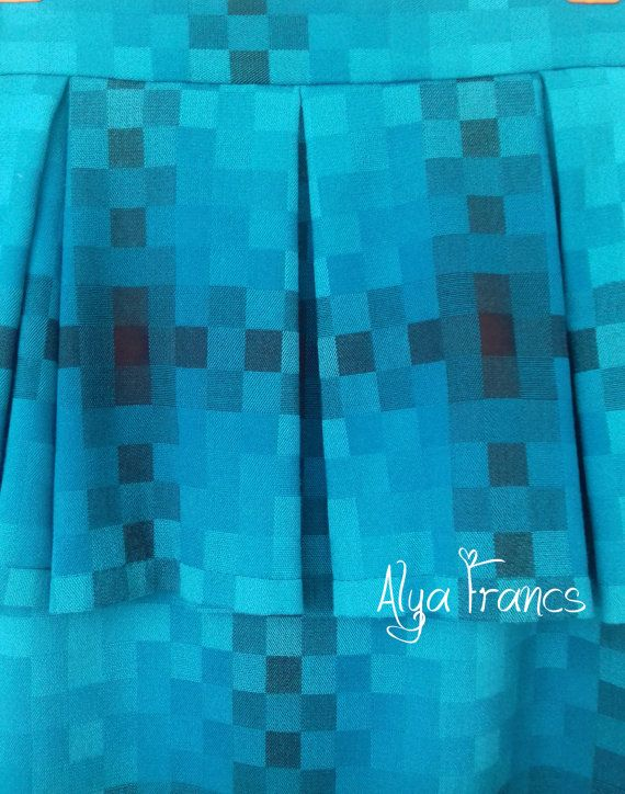 Skirt in a cage. Skirt for the office. Blue black. Pencil skirt. Plaid skirt. Classic skirt. Fashion skirt winter - summer 2017. Francs  Condition: New - handmade Colour: Blue/black Brand: Alya Francs   • Size guide: The item should fit to a girl/woman with approximate measures around: UK6 / US4 / EU34 / XS - Bust - 78-82cm, Waist - 58-62cm, Hips - 84-88cm UK8 / US6 / EU36 / S - Bust - 82-86cm, Waist - 62-66cm, Hips - 88-92cm UK10 / US8 / EU38...