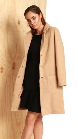 Socialite Jacket in Camel by Madison Square Clothing