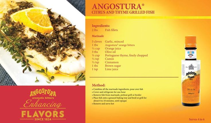42 best angostura bitters food recipes images on pinterest for Fish thyme menu