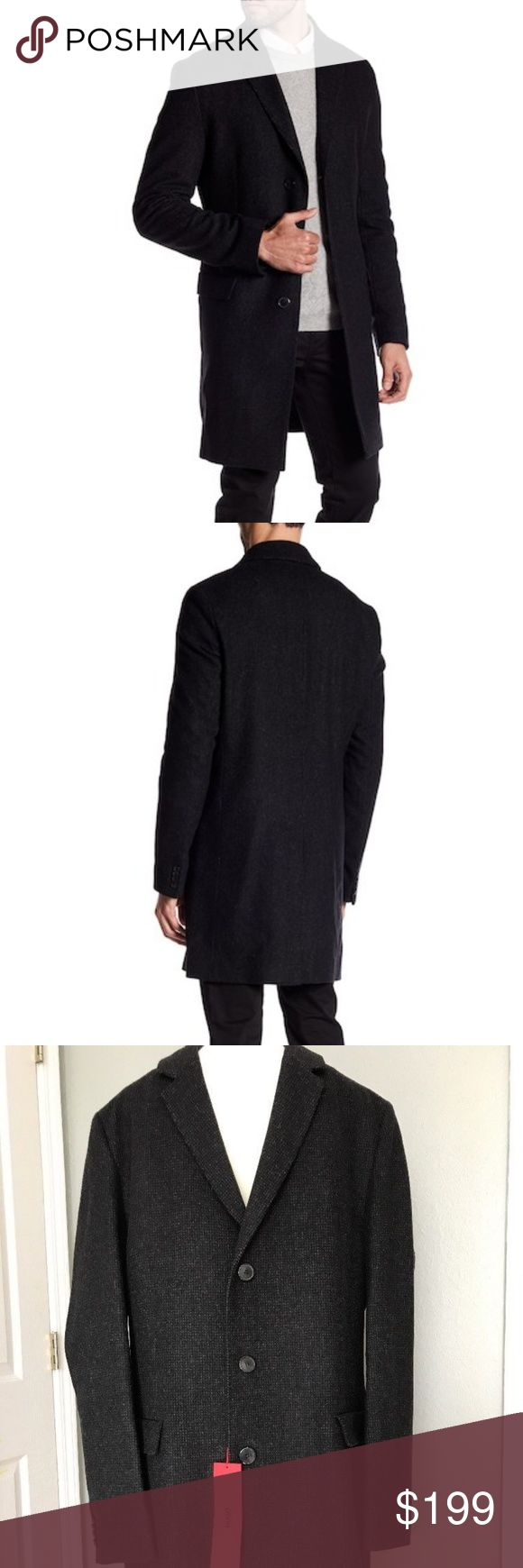 NWT Hugo Boss Migor2 Virgin Wool Coat Made in Romania. High Quality wool coat by Hugo Boss,  80% virgin wool, new with tag.  Color is Charcoal. MSRP $595 Hugo Boss Jackets & Coats
