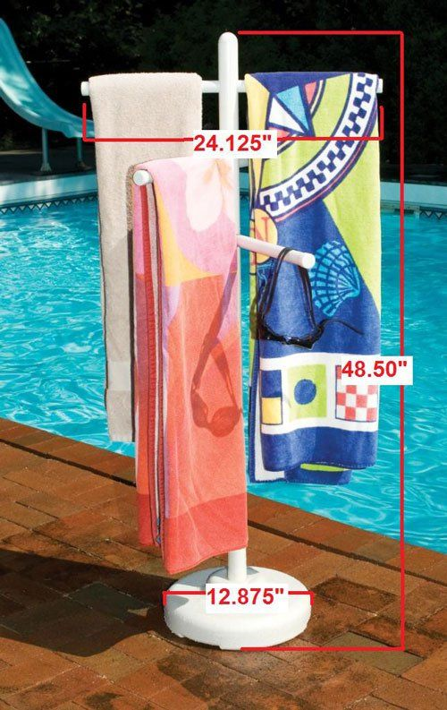 Pool and Spa Towel Rack