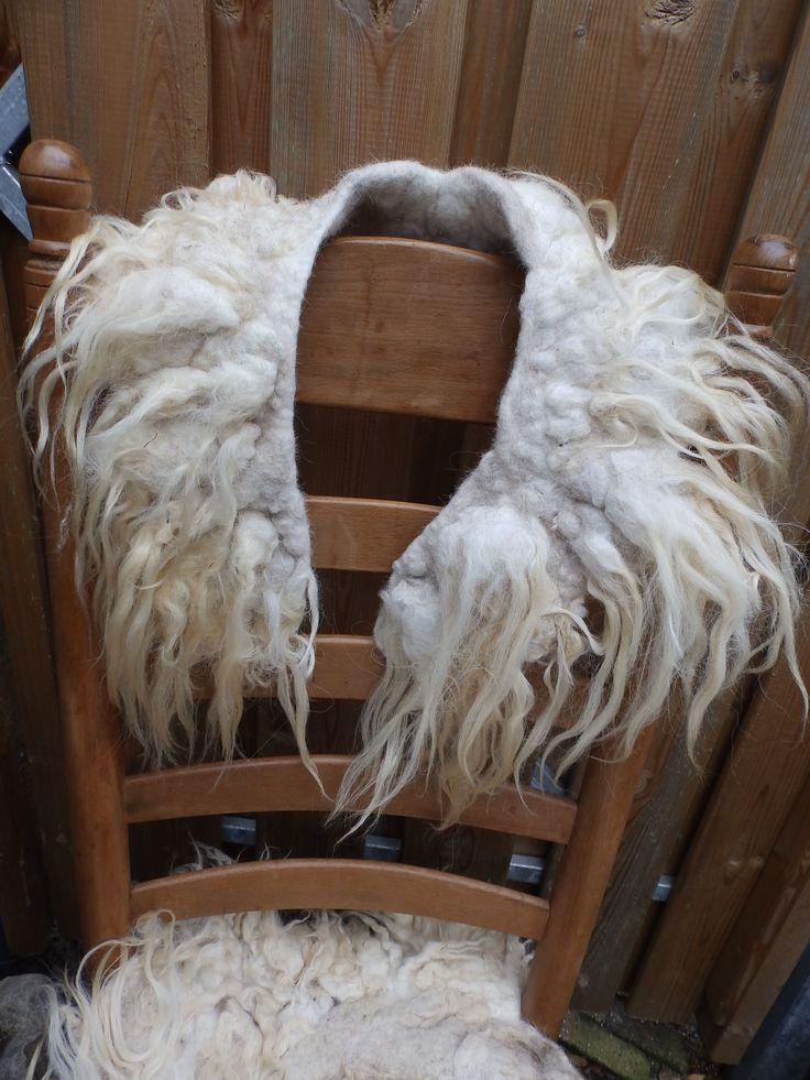 kraag, ruwe schapenwol