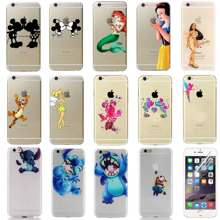Disney all characters clear funny ornament gift cover case