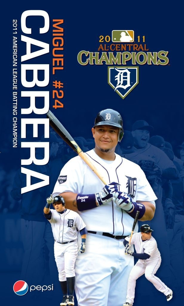 Miguel Cabrera 2011 A.L. Batting Champion Banner presented to the first 10,000 fans on Monday, April 30 @ 7:05 vs. Royals: Detroit Tigers, Cabrera 2011, 10 000 Fans, Bats Champions, April 30, 7 05, 2011 A L, Champions Banners, Hair