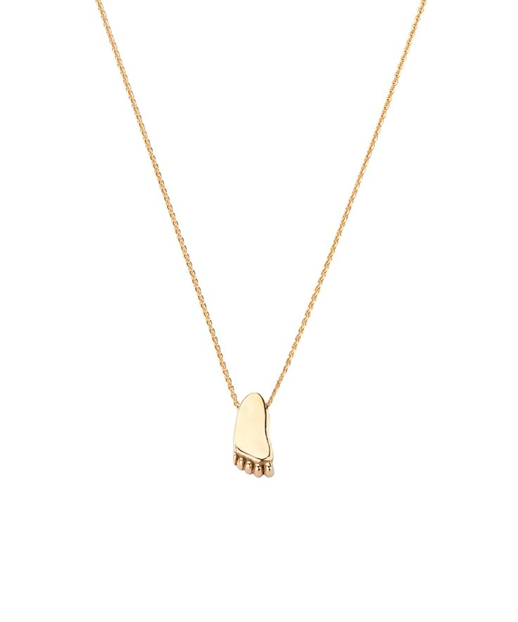 Joy de la Luz initial collier 14K gold | foot big yellowgold