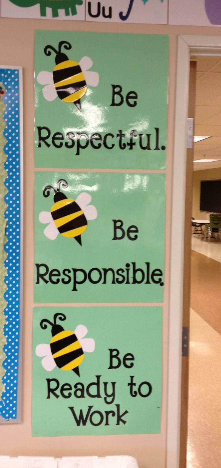 The 3 Bee Rules: Be Respectful, Be Responsible, Be Ready to Work