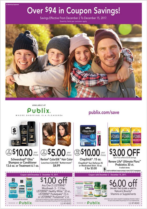 Publix Saving Non-Foods December 2 – 15, 2017 – Grocery, Publix weekly circular comes on th scene almost every week but quite often people see the Grocery, Publix ad plus they are quick to throw it out. Checking the ads every single week and clipping your coupons that come from the weekly ad circulars can in reality be a remarkably rewarding experience. Grocery, Publix regularly includes coupons which will equate his much as 50% off your purchase. Because of this
