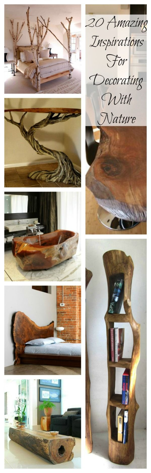 trucker hats 20 AMAZING IDEAS FOR DECORATING WITH NATURE | Nature, Inspiration and Bath Tubs