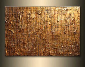 Articoli simili a Original Modern Metallic Abstract Textured Painting su Etsy