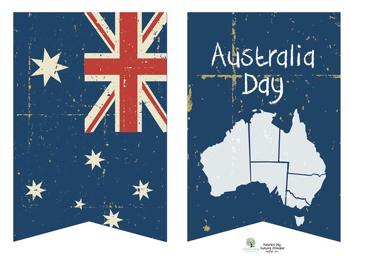 Australia Day printable bunting, cupcake toppers, etc.