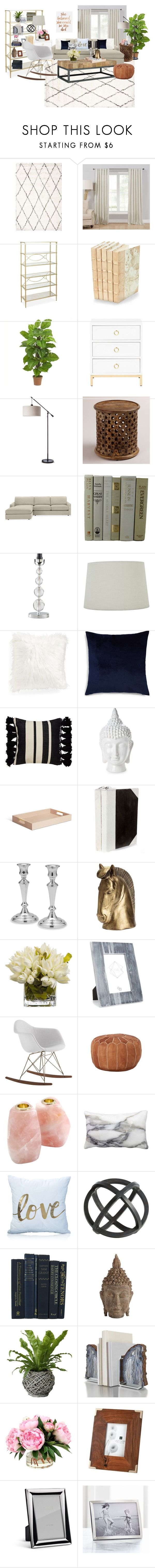 Living Room Board by archaeology25 on Polyvore featuring interior, interiors, interior design, home, home decor, interior decorating, EASTON, Jayson Home, Cost Plus World Market and Threshold