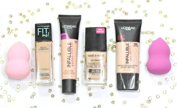 The 4 Best Full Coverage Drugstore Foundations for Oily Skin http://blushingnoir.com/beauty/the-4-best-full-coverage-drugstore-foundations-for-oily-skin #MakeupCafe