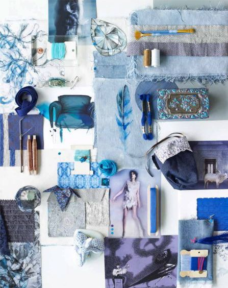 Karin Meyn styling via Residence magazine gorgeous blues